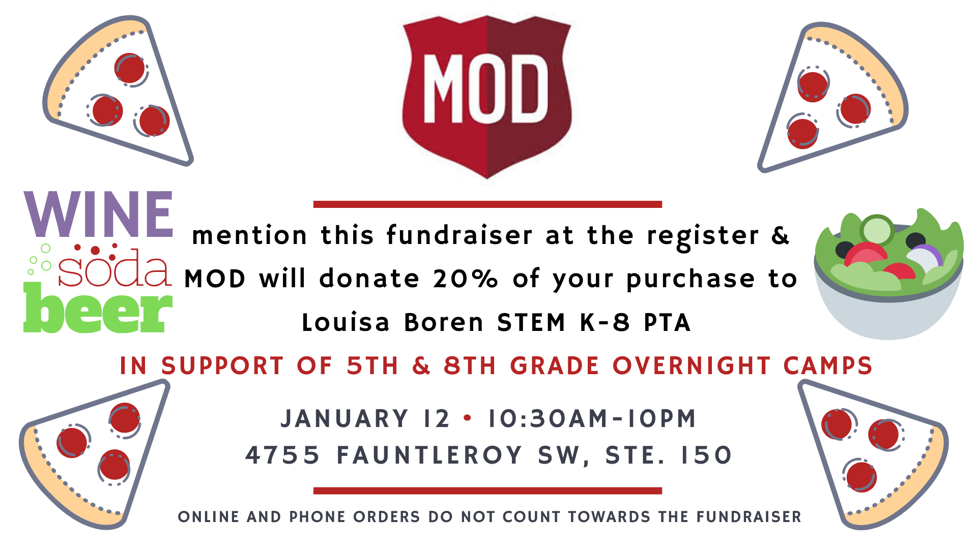 Dine out for STEM with MOD pizza @ MOD Pizza